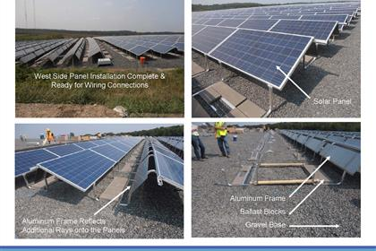Page 9 of the Green Needham Presentation of the Solar 1 Landfill Project