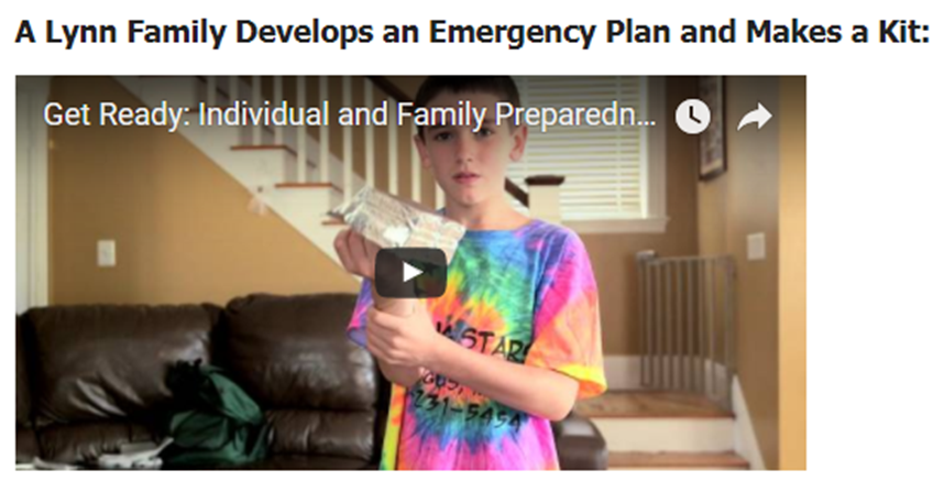 Family Plan and Emergency Kit Opens in new window