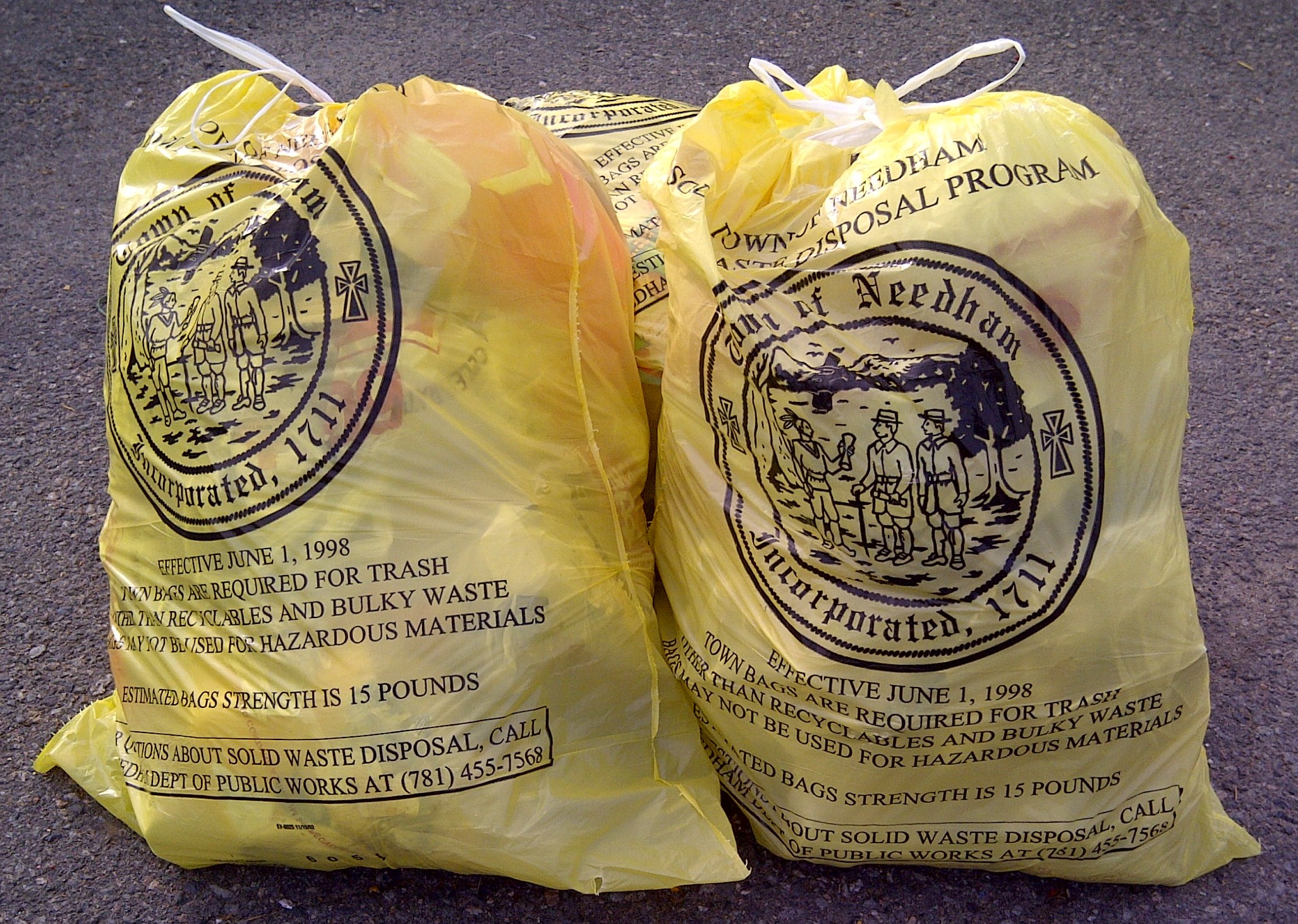 Needham Yellow Bags